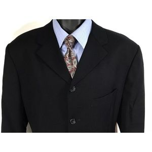 Other - CALVIN KLEIN Blazer Size 42S   Off Black 3 Button